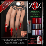 -{ZOZ}- Black Queen Silver mesh set pix